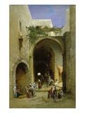 Aegyptische Strassenszene Giclee Print by Hermann David Salomon Corrodi