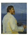 Bildnis Des Malers Peter Severin Kroyer, 1907 Gicléetryck av Michael Peter Ancher