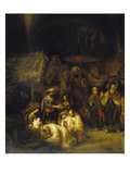 Adoración de los Reyes Magos Lámina giclée por Gerbrand Van Den Eeckhout