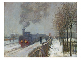 The Train in the Snow (Or: the Locomotive) 1875 Giclee Print by Claude Monet