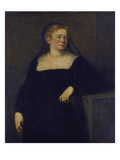 Portrait of a Lady in Mourning. (Early Work) Giclee Print by Jacopo Robusti Tintoretto
