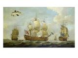 Drei Ansichten Der H.M.S.Guernsey Giclee Print by Francis Swaine