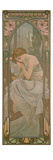 The Times of the Day: Night's Rest, 1899 Reproduction procédé giclée par Alphonse Mucha