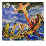 Crusaders in a Storm, 1913 Giclee Print by Franz Marc