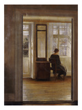 A Lady in an Interior Affischer av Carl Holsoe