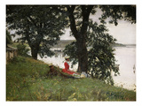On the Bank, 1889 Giclee Print by Peter Ilsted