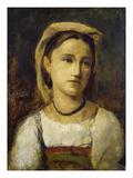 Bildnis Eines Italienischen Maedchens, um 1870 Art by Jean-Baptiste-Camille Corot