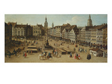 View of the Marienplatz, Munich, ca. 1750 (Detail) Giclee Print by Joseph Stephan