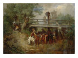 Troop under a Bridge During the Thirty Years War Giclee Print by Wilhelm von Diez