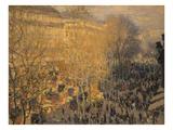 Boulevard Des Capucines, 1873 Giclee Print by Claude Monet