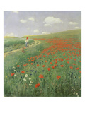 Summer Landscape with Poppy Field, 1902 Giclee Print by Paul von Szinyei-Merse