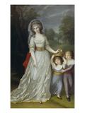 Auguste Wilhelmine, First Wife of Max I. of Bavaria Giclee Print by Johann Joseph Langenhöffel
