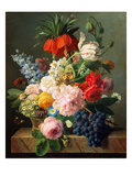 Still Life with Flowers and Fruit, 1827 Giclee Print by Jan Frans van Dael