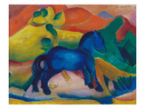 Blue Horsey, Children's Image, 1912 Print by Franz Marc