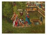Susanna Im Bade Und die Steinigung Der Alten. Detail: Badeszene Am Brunnen Art by Albrecht Altdorfer