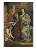 Saint Cecilia Giclee Print by Thomas Willeboirts