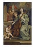 Saint Cecilia Giclee Print by Thomas Willeboirts