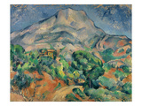 Mount Saint-Victoire Posters by Paul Cézanne