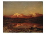 Mt. Hohe Goell During Alpenglow Gicl&#233;e-Druck von Carl Rottmann