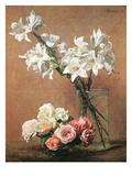 Lilies in a Vase Prints by Henri De Fantin-latour