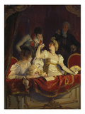 In the Loge, about 1900 Giclee Print by Franz Simm