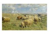 In Erwartung, um 1906 Schilderij van Heinrich von Zügel