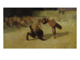 Fighting Fauns, 1889 Prints by Franz von Stuck