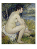 Bather Drying Herself, 1883 Giclee Print by Pierre-Auguste Renoir