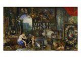 The Sense of Sight. (Executed with Peter Paul Rubens), 1617 Giclee Print by Jan Brueghel the Elder