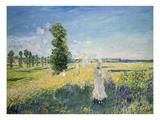 La Promenade (Argenteuil) Giclee Print by Claude Monet