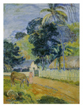 Landscape on Tahiti, 1899 Prints by Paul Gauguin