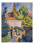 Children in the Garden, 1912 Giclee Print by Auguste Macke