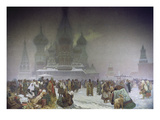 The Abolition of Serfdom in 1861, from the 'slav Epic', 1914 Prints by Alphonse Mucha