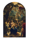 The Holy Family with Angels and John the Baptist, about 1599 Giclee Print by Adam Elsheimer
