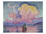 The Pink Cloud (Antibes), 1916 Art by Paul Signac