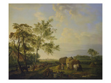 Landscape with Haymakers and Herd Giclee Print by Hendrick van de Sande Bakhuyzen