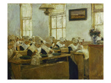 Dutch School for Needle-Work, 1876 Posters by Max Liebermann