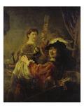 Selbstbildnis Mit Saskia, um 1635 Prints by  Rembrandt van Rijn