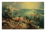 Landscape with the Fall of Icarus, about 1558 Giclee-trykk av Pieter Bruegel the Elder