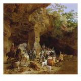 Raeuberbande in Den Abruzzen (Gefangennahme Italienischer Briganten), 1830/32 Giclee Print by Heinrich Burkel