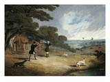 Partridge Shooting at Six Mile Bottom, 1833 Giclee Print by John Frederick Herring I