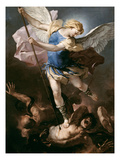 St. Michael, about 1663 Giclee Print by Luca Giordano
