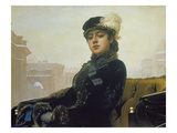 The Unknown Person, 1883 Giclee Print by Ivan Nikolaevich Kramskoi