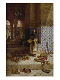 Schuhe Glaeubiger Moslems Vor Einer Moschee, 1879 Giclee Print by Charles Robertson