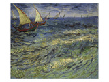 Seascape at Saintes-Maries, 1888 Posters by Vincent van Gogh