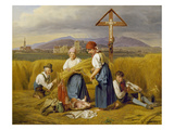 Harvest (Near Zell Am See), 1846/47 Giclee Print by Ferdinand Georg Waldm&#252;ller