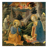 The Adoration of the Child with the Saints Joseph, Hilary, Jerome and Mary Magdalene, about 1455 Gicle-tryk af Fra Filippo Lippi