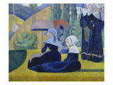 Breton Women with Parasols, 1892 Posters by Emile Bernard