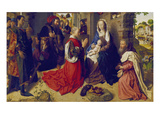 Adoration of the Kings (Monforte-Altar), about 1470 Posters by Hugo van der Goes