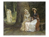 Unrequited Love - a Scene from Much Ado About Nothing, 1880 Giclee Print by William Oliver